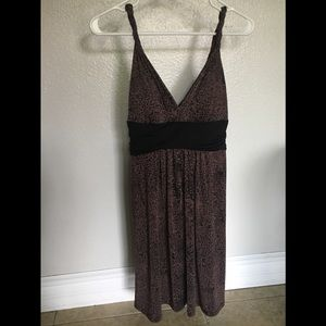 Candie's Dresses - Cute leopard print, mid lower thigh dress.